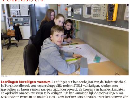 Leerlingen STEM beveiligen museum