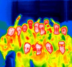 Leerlingen 4de jaar STEM aan de slag met warmtebeeldcamera