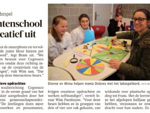 Leerlingen Talentenschool dagen ouders creatief uit