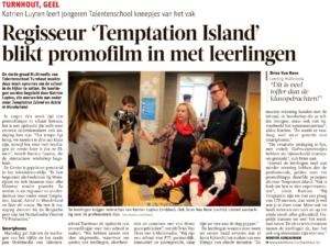 Regisseur 'Temptation Island' blikt promofilm in met leerlingen