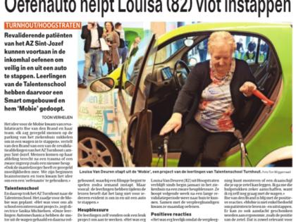 Talentenschool maakt Mobie voor revalidatie in AZ Turnhout