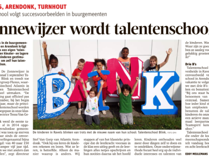 Zonnewijzer schoolt zich om tot talentenschool!