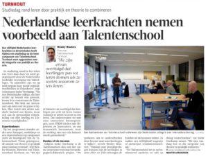 Nederlandse leerkrachten nemen voorbeeld aan Talentenschool