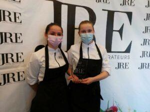 Loes en Laune, leerlingen Hotelschool, halen eerste èn tweede plaats op prestigieuze JRE Cooking Cup!