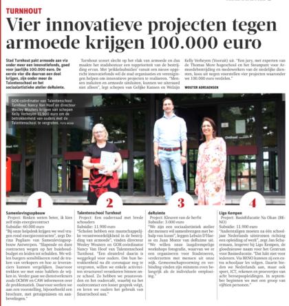 11 900 euro subsidie voor innovatief project tegen armoede